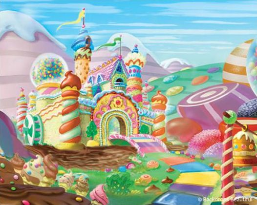 Candyland Backdrops 10 x 8
