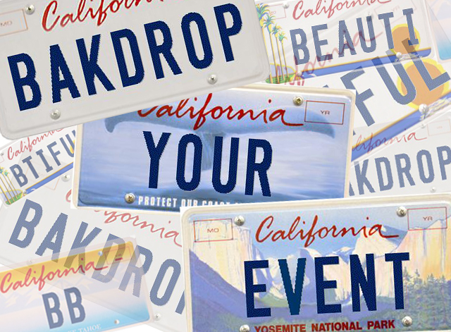 Backdrops Beautiful Personalized Plates