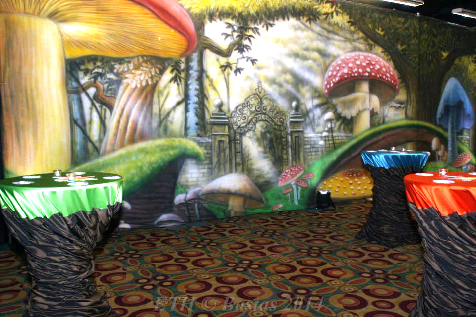 Alice In Wonderland 3 Backdrop - 30X15 - NACE Austin Eat The Heat Event Pic1