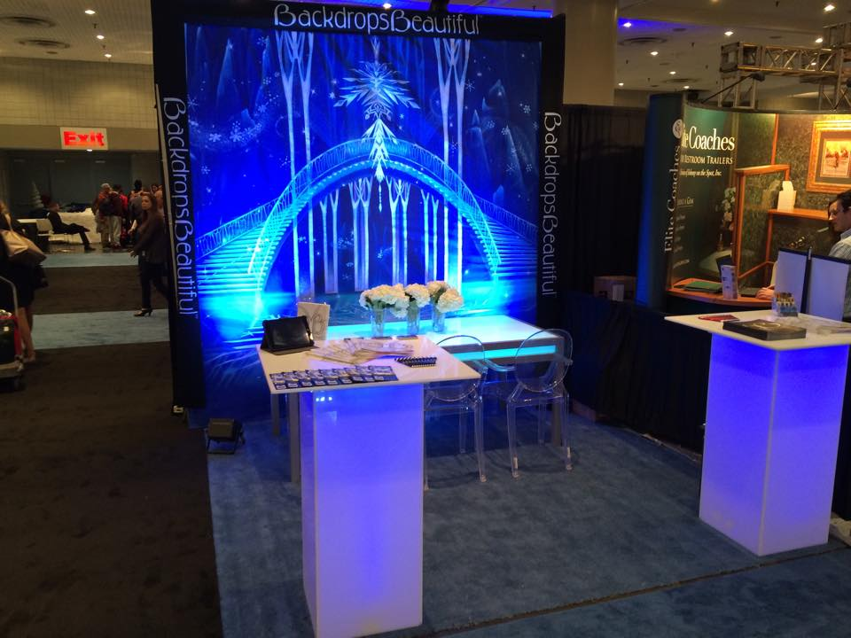 Frozen Backdrop in BizBash NY