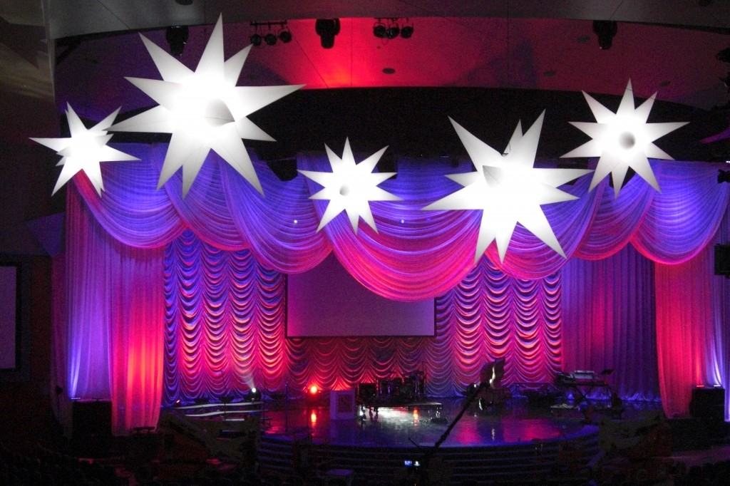 6 star inflatables by AirDD add dimension to any theatrical stage