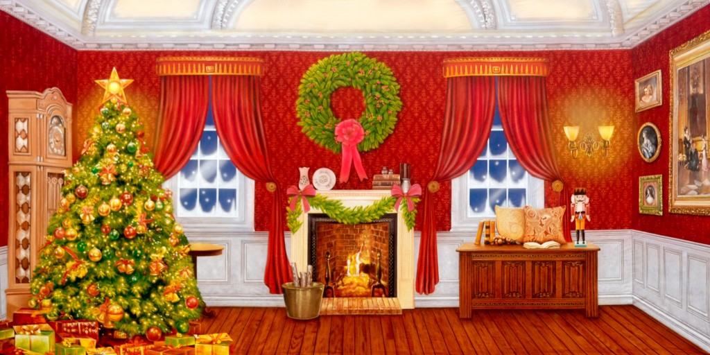 Xmas Home 8 backdrop - 40x20 i