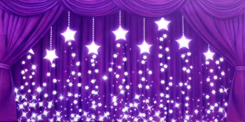Dance Recital - Drapes Purple Stars Backdrop