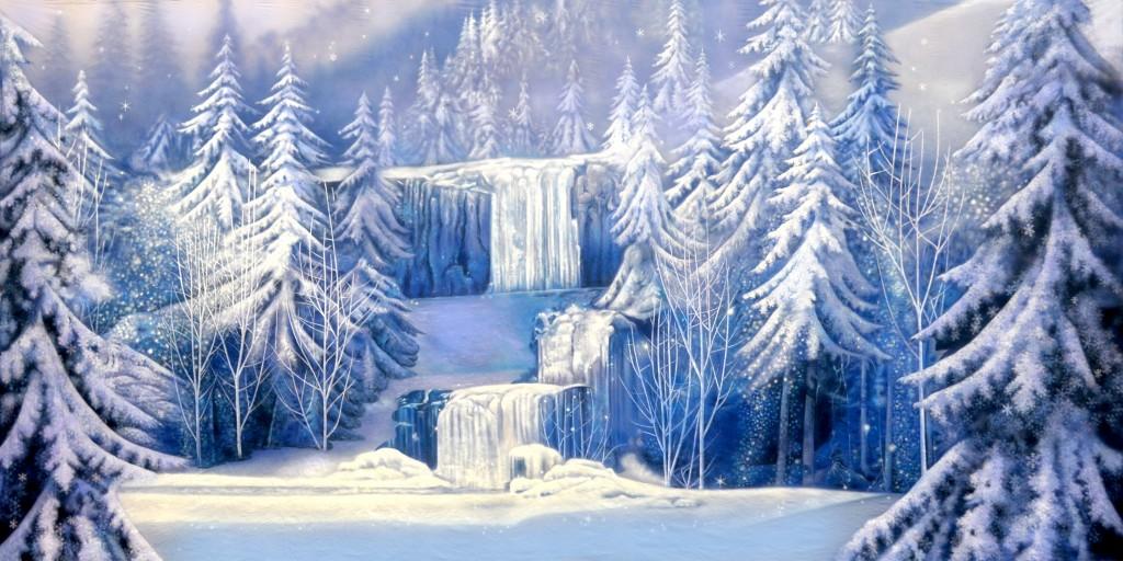 Winter Waterfall 1 Backdrop