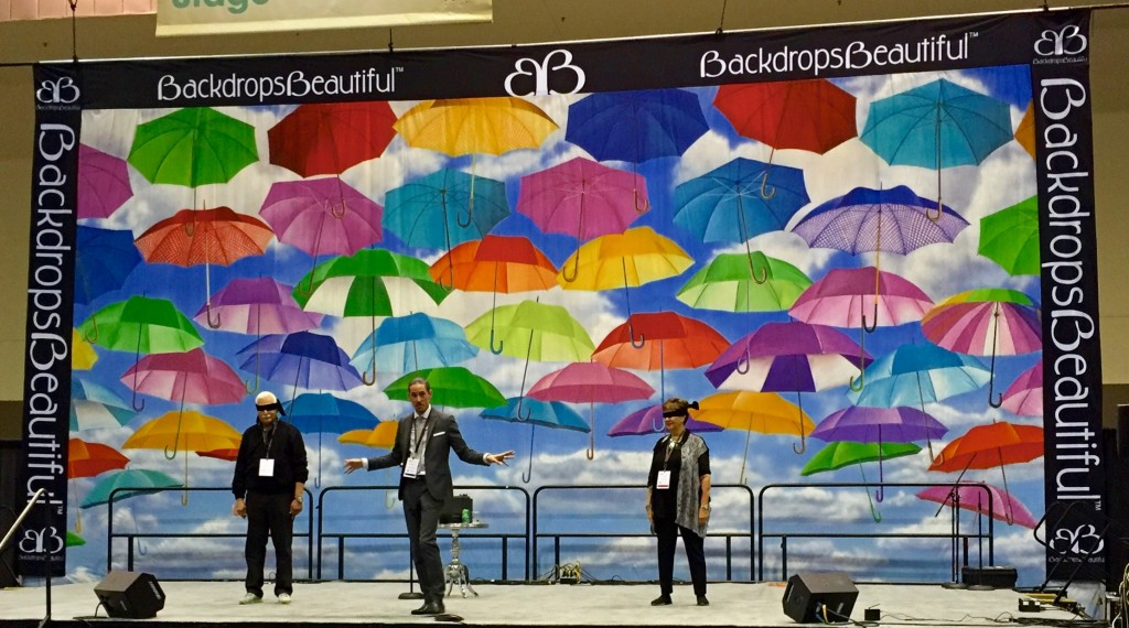 Umbrellas Backdrop TSE 2016