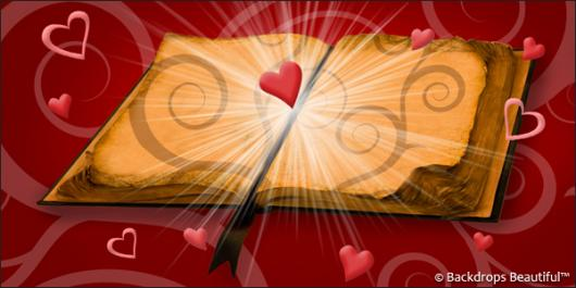 Valentine Hearts 3 Love Story backdrop