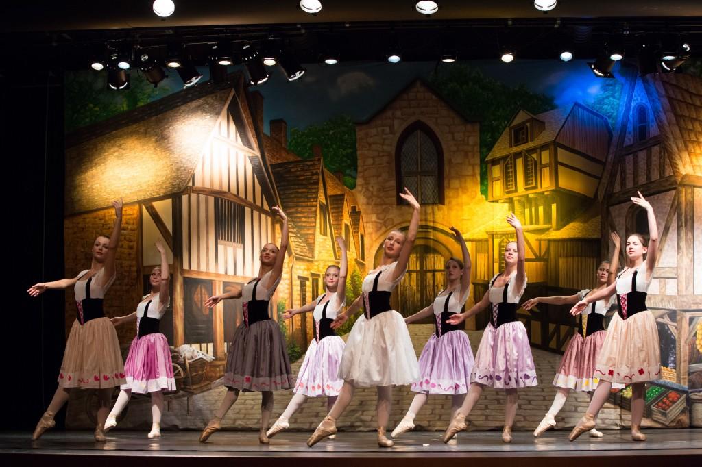Dance Recital - Medieval Village Backdrop