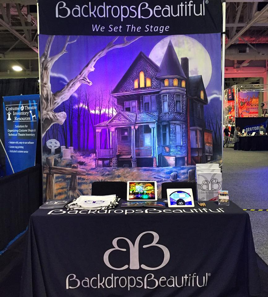 USITT 2016 - Haunted House 1 backdrop