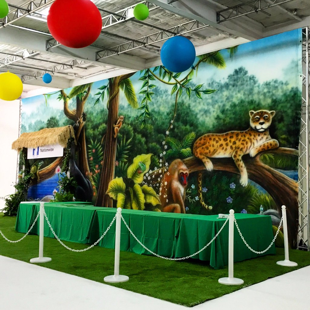 Jungle Animals 3 Backdrop
