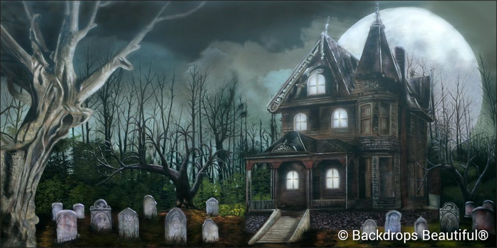 October - New Backdrop - Haunted House 2