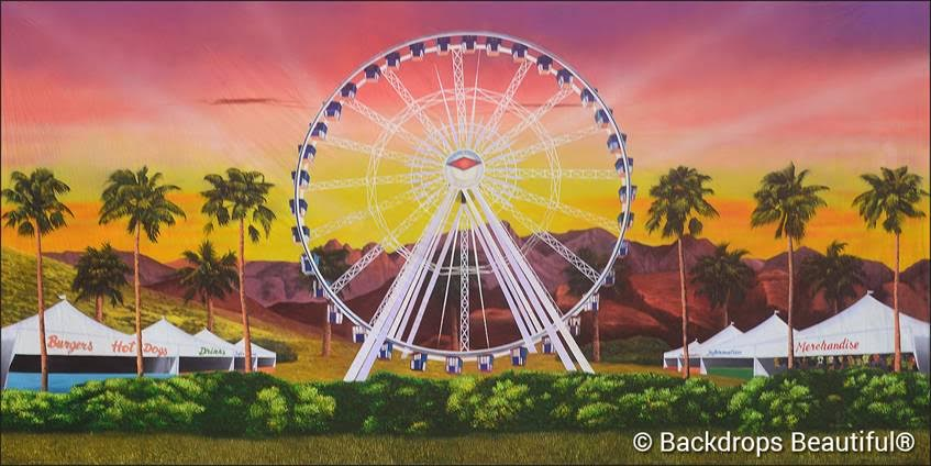 Ferris Wheel Backdrop