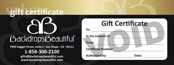 Stocking Stuffer - Backdrops Beautiful Gift Certificate