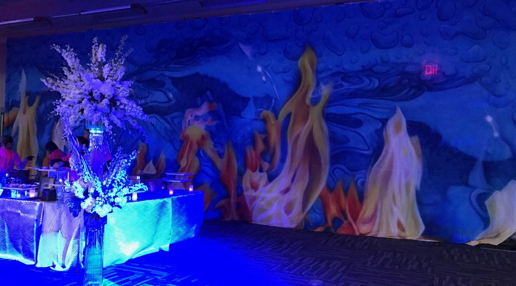 Fire and Ice - Catering Backdrops