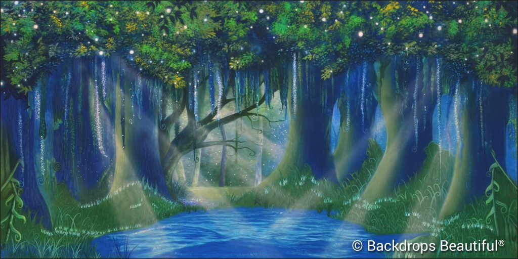 Enchanted Trees Night - Colorful Backdrops
