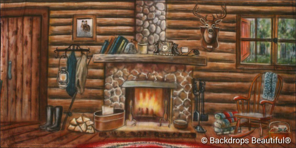 Cabin Interior 1 Backdrop - VBS Themes