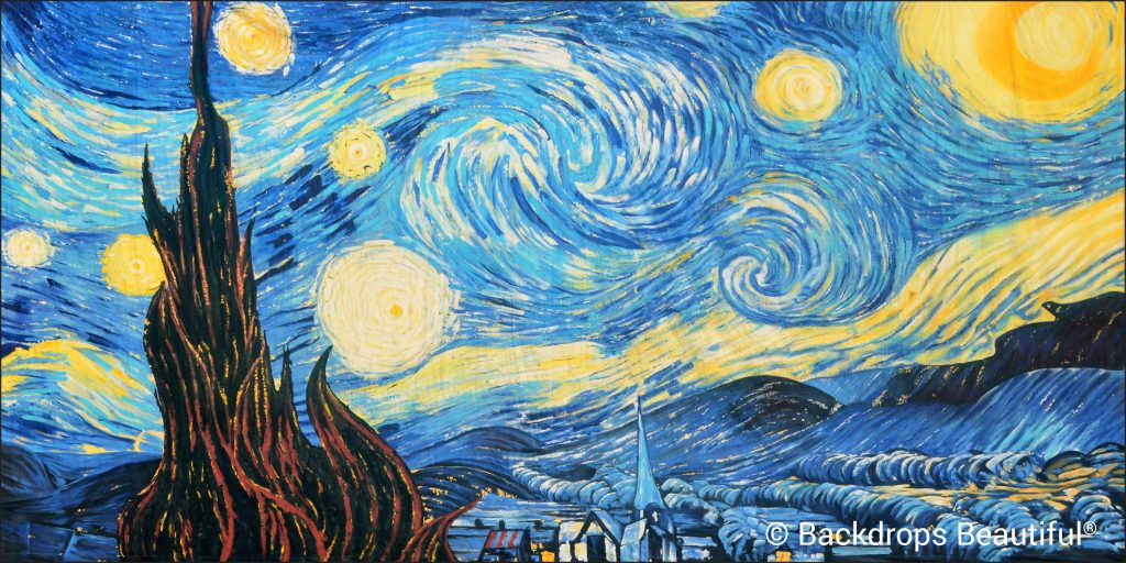 Van Gogh 1 Starry Night Beautiful Backdrop