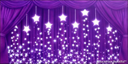 Drapes Purple Stars