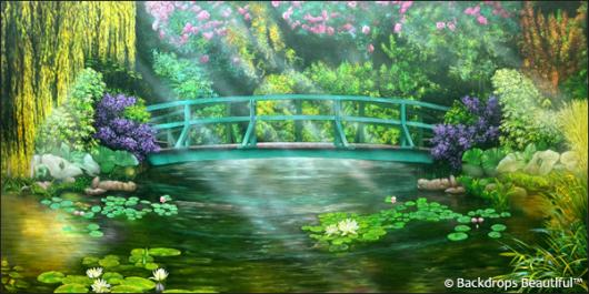 Spring Décor - Pond 3 Bridge
