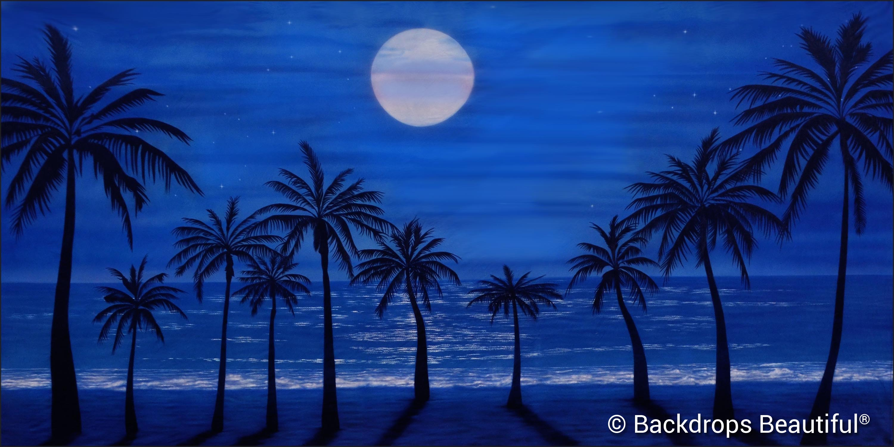 Summer Designs - Tropical Beach 17 Moonlight