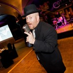 Backdrops-David Patrone Singing at SD MPI Holiday Party