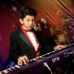 Backdrops-Boy playing the organ