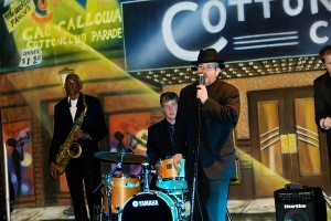 David and the band-Cotton Club Backdrop