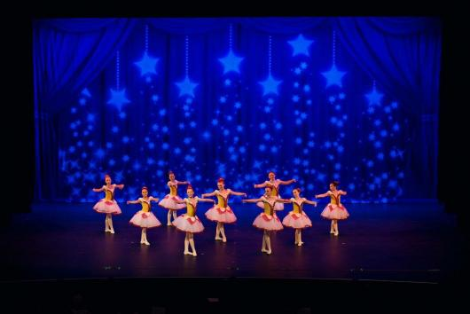 Dance Recital Ideas - Drapes Purple Stars