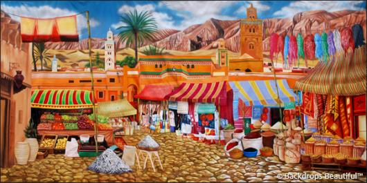 Backdrops: Street Market 2