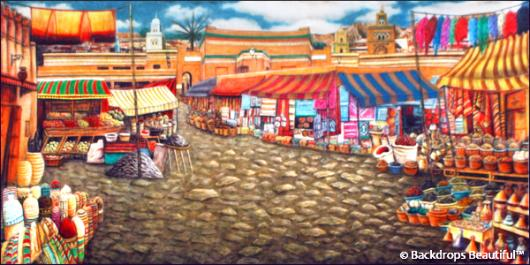 Backdrops: Street Market 1