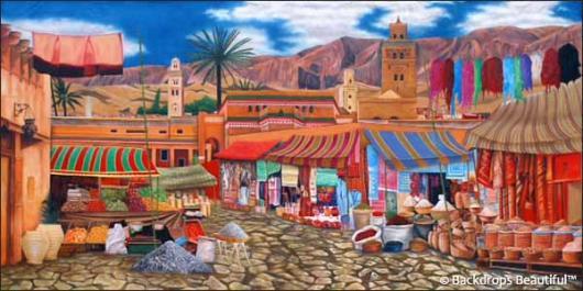 Backdrops: Street Market 1B