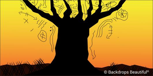 Backdrops: Tree Sunset 2