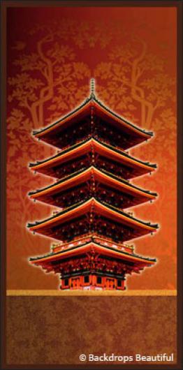 Backdrops: Asian Pagoda 1