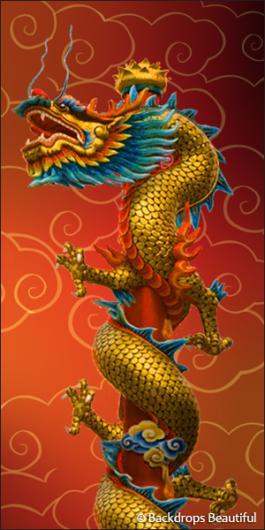 Backdrops: Asian Dragon 3 (Alt View)