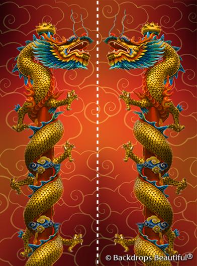 Backdrops: Asian Dragon Panel