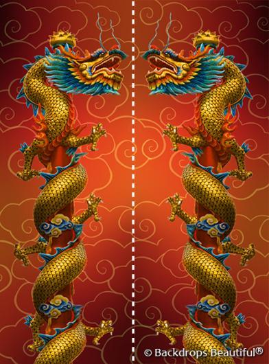Backdrops: Asian Dragon Panel
