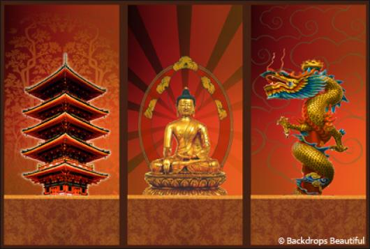 Backdrops: Asian Panel 1