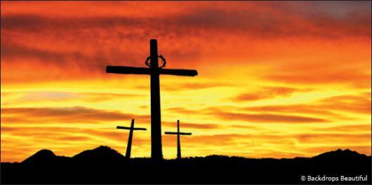 Backdrops: Easter Cross 1