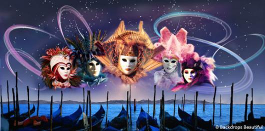 Backdrops: Venetian Masks 2