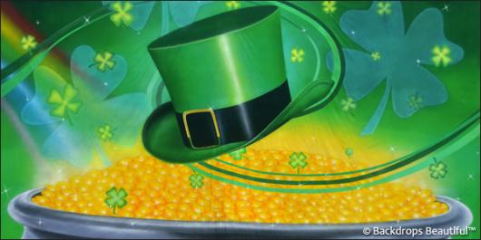 Backdrops: Irish Luck 5 Clovers