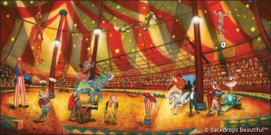 Backdrops Circus 6 Interior & Circus Backdrop 6 | Backdrops Beautiful