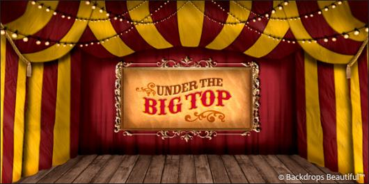 Backdrops: Circus  8 Big Top
