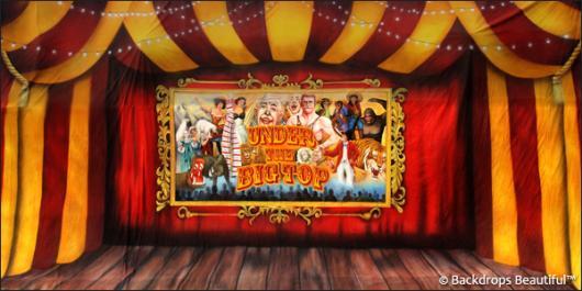 Circus 7 Big Top Backdrop Backdrops Beautiful