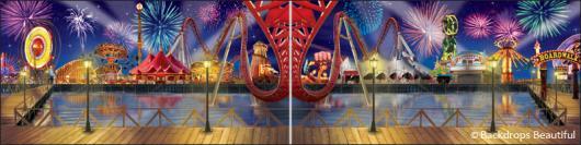 Backdrops: Boardwalk 4 Panel
