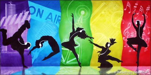 Dance 16 Radio Backdrop Backdrops Beautiful