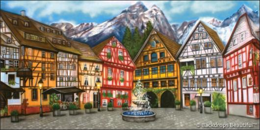 Backdrops: European Courtyard 1