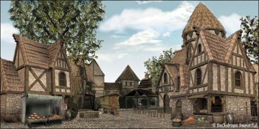 Backdrops: Medieval Village 3