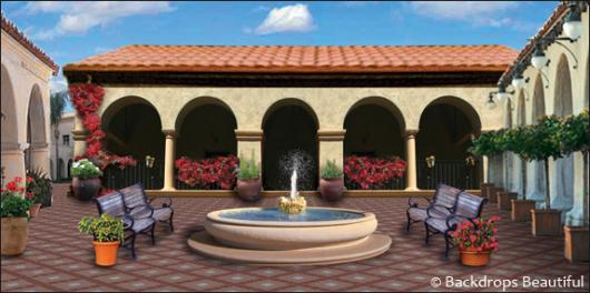 Backdrops: Spanish Courtyard 3