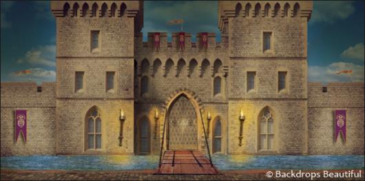 Castle Photography Backdrop Backdrops Medieval Castle 3