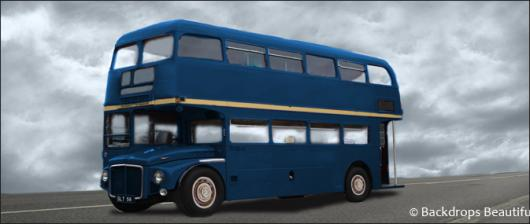 Backdrops: London Bus 2 Blue