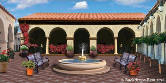 Backdrops: Spanish Courtyard 2
